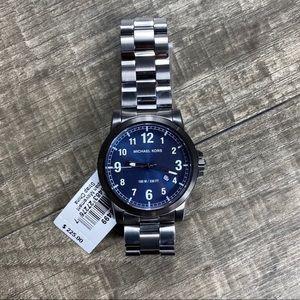 Michael Kors Gunmetal Men's Blue Watch
